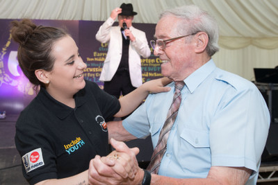 Aoife O'Hagan and Eoin McGoldrick at the Golden Day Dance on Friday, 8th August in the Gasyard Centre. Photo: Big Lottery Fund NI