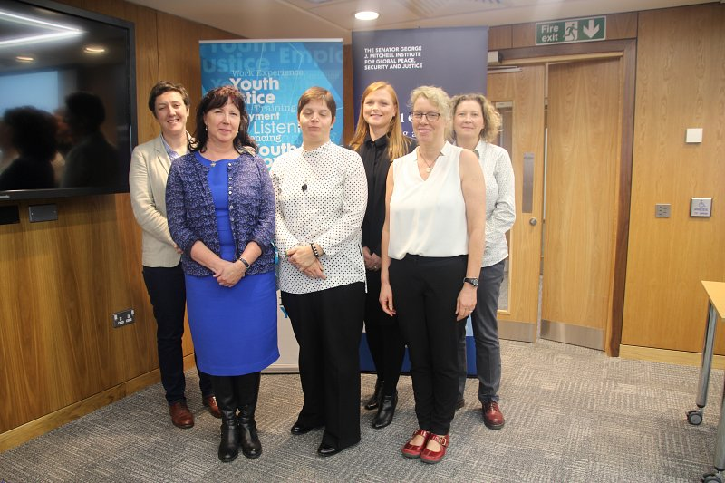Dr Nicola Carr, Professor Lesley McAra, Commissioner for Children & Young People Koulla Yiasouma, Dr Clare Dwyer, Dr Paula Rodgers & Dr Siobhan McAlister.